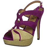 Ravel Jackie Purple/Natural Slingbacks Heels RLP754 5 UK