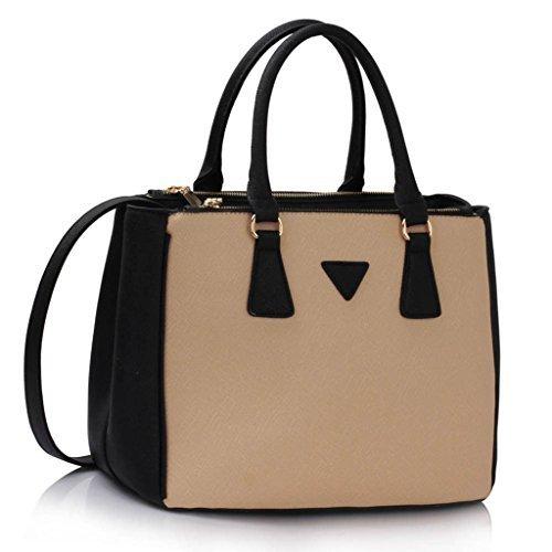 Womens Designer Faux Leather Celebrity Style Stylish Evening Tote Handbag