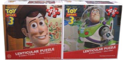 Toy Story 3 Lenticular Puzzle - Styles May Vary - (Pack of 2) - 1
