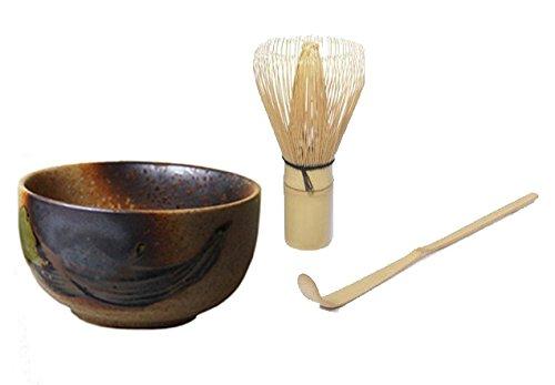 Japanisches-Matcha-Set-Original-japanische-Matcha-Schale-400-ml-PLUS-Matcha-Besen-Chasen-Matchabesen-PLUS-Matcha-Bambuslffel-Chashaku-von-Quertee
