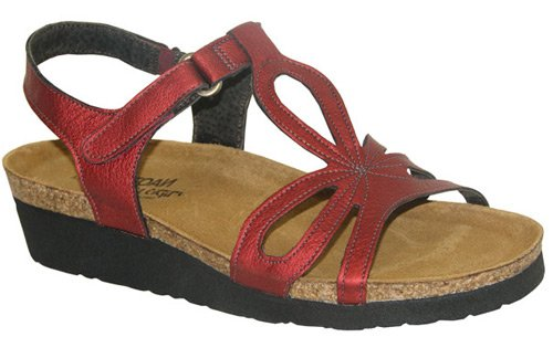 Naot Women's Rachel Sandals,Flame Shimmer Leather,37 M EU