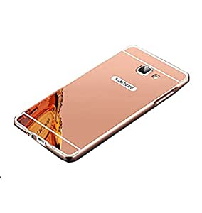 Novo Style Metal Bmper Frame Case with Acrylic Mirror Back Cover For Samsung Galaxy A5 (2016) - Pink
