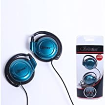 Zenex Zn-ep5349-a Clip on Earphones Stereo Powerful Bass Blue /Genuine