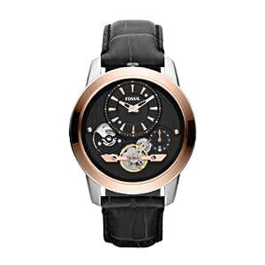 Fossil Herren-Armbanduhr XL Analog Quarz Leder ME1125