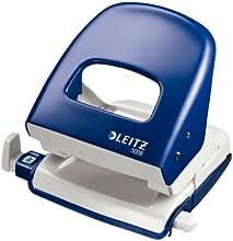 Leitz 50086035 Bürolocher NeXXt, Metall, 30 Blatt, Blisterverpackung, blau