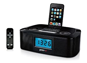 Groov-e GVSP880 i-Speaker Dock 20 with Clock Radio for iPod and iPhone