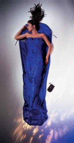 Cocoon Women's 100% Silk MummyLiner (Ultra Blue, 95