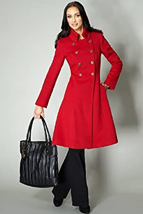 Per Una Speziale Wool Rich Double Breasted Coat-Marks & Spencer