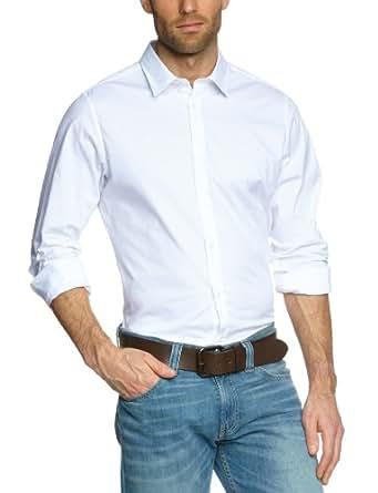 Ben Sherman Men's Laundered Classic Poplin Woven Shirt, Bright White, X-Small
