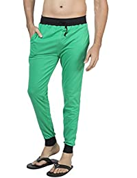 Clifton Men's Ribbed Slim Fit Track Pant - Stump Green