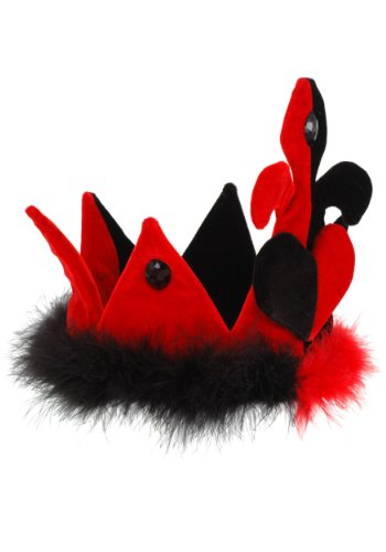 Plush Queen of Hearts Costume Crown