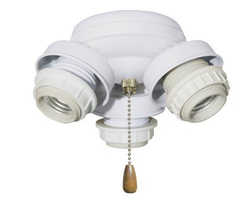 Emerson F330Bs Three-Light Turtle Fitter With Three 13-Watt Medium Base Compact Fluorescent Bulbs, 5.5-Inch Wide, 3.5-Inch High, Brushed Steel front-390818