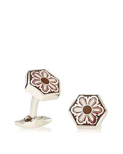Daniel Dolce Enamel Flower Cufflink