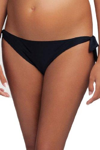 Ingrid & Isabel Side Tie Bottoms - Graphite - M front-615827