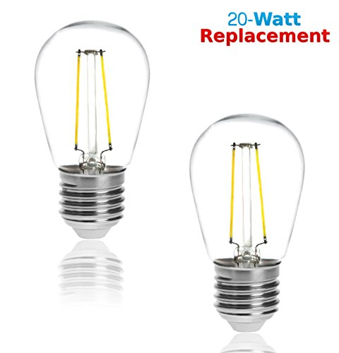 lr21232 2 pack led filament s14 light bulb 1 5 watt equivalent. Black Bedroom Furniture Sets. Home Design Ideas