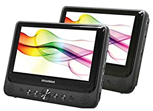 Sylvania SDVD9805/SDVD9805-C 9-Inch Twin, Dual Screen DVD Player with Built-In USB/SD Card Reader