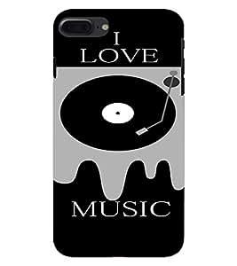 PrintVisa Music DJ Quotes 3D Hard Polycarbonate Designer Back Case Cover for Apple iPhone 7 Plus