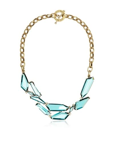 CC Skye Teal Glass Shield Necklace