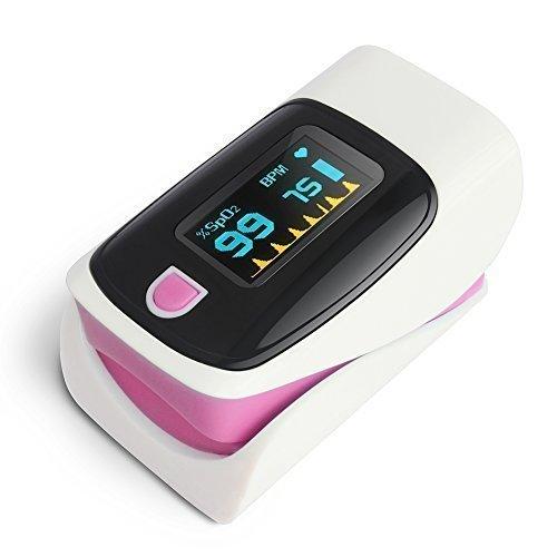 No te pierdas Oxímetro de dedo con monitor cardíaco y pantalla LED Toprime TPO1001PKAB1