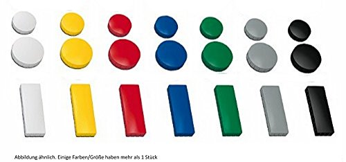 30x magnete farbig sortiert 3 verschieden gr en 24 u 32 u 54x19 m faxland. Black Bedroom Furniture Sets. Home Design Ideas