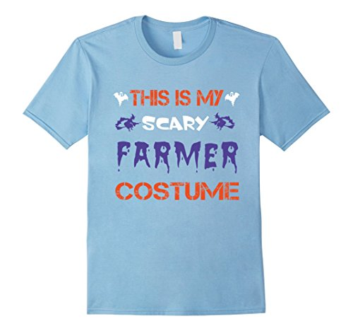 [Men's This is My Scary FARMER Costume T-shirt Small Baby Blue] (Baby Farmer Halloween Costume)