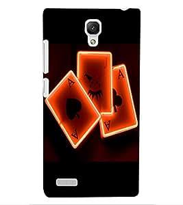 ColourCraft Digital Cards Design Back Case Cover for XIAOMI REDMI NOTE 4G