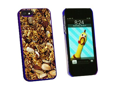 Granola - Nuts Grains - Vegetarian - Snap On Hard Protective Case for Apple iPhone 5 5S - Blue