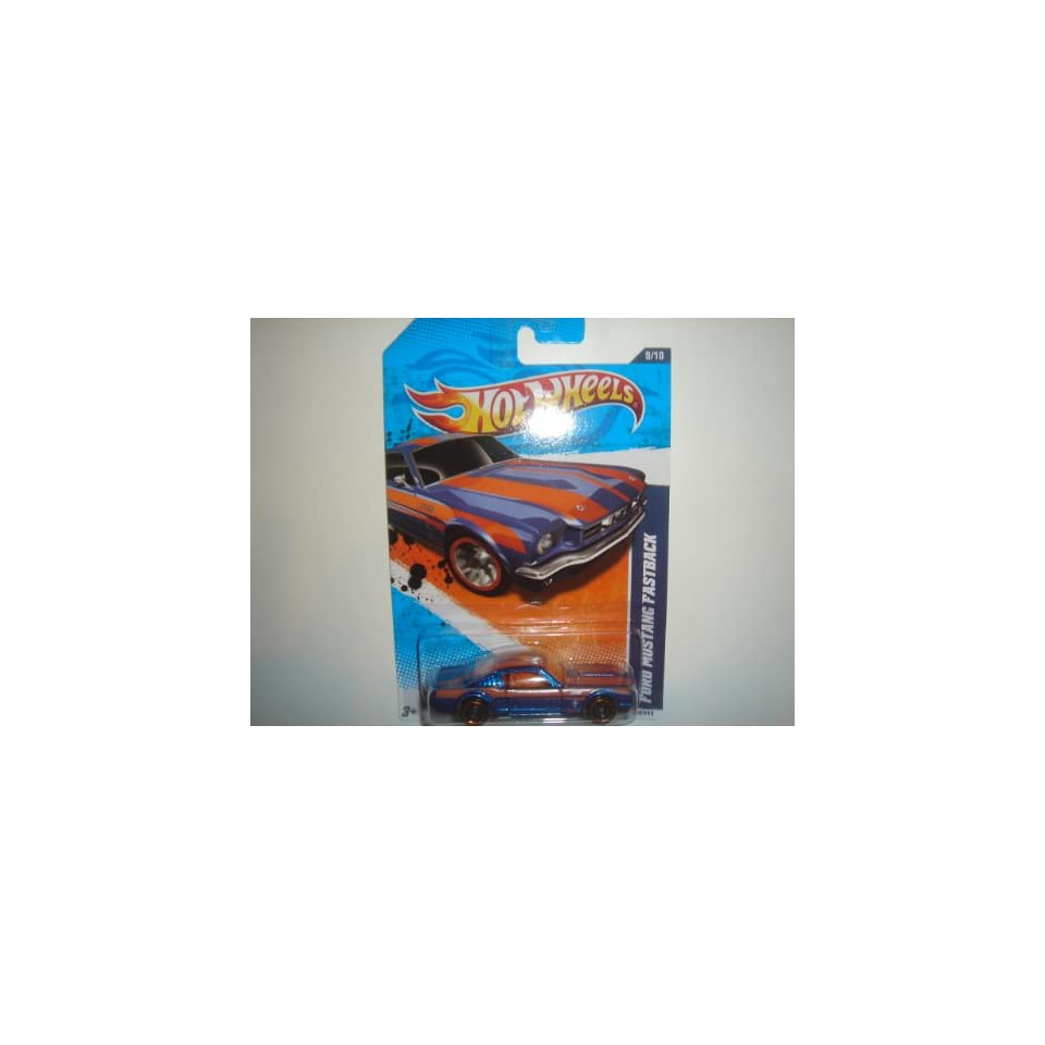 2011 Hot Wheels  Exclusive Ford Mustang Fastback Blue/Orange #89/244