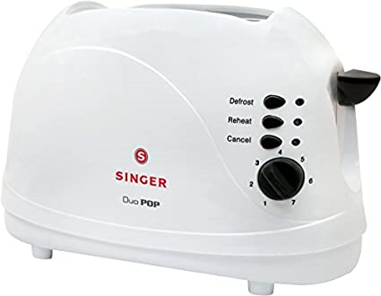 Singer-Duo-Pop-700W-2-Slice-Popup-Toaster