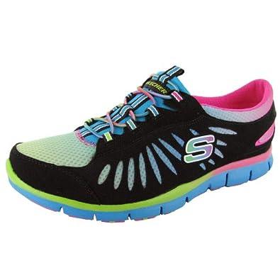 Skechers Shoes Girls Kids Sneaker Black Pink Memory Foam Amazon