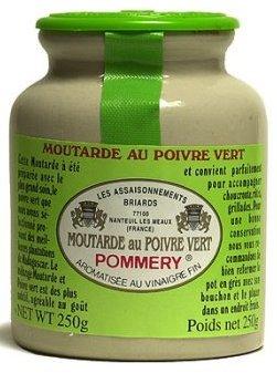 Pommery - Gourmet Green peppercorn Mustard from France in crock 8 8ozB0001AV5HQ : image