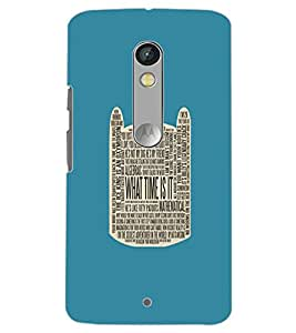 MOTOROLA MOTO X PLAY WHAT TIME IS IT Back Cover by PRINTSWAG