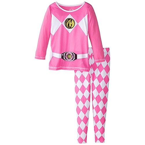 [Power Rangers Girls Pajamas with Cape (10, Pink Power Ranger)] (Yellow Power Ranger Costumes Child)