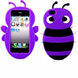 Bumble Bee Silicone Case Cover Shell For Apple iPhone 5 5S / Purple
