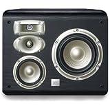 JBL L820 4-Way High Performance 6-inch Wall-Mountable Bookshelf Loudspeaker - Black (Pair)