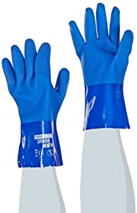 ProCoat 58-8658K/XL 13-Gauge XtraTuff Cut and Oil Resistant PVC Coated Gloves with Seamless Kevlar Liner, Blue, X-Large,  1-Dozen