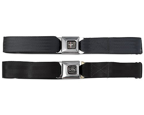 Buckle-Down Ford Mustang Ford Mustang Seat-Belt Style Fashion Belt (SBB-FMW10200)