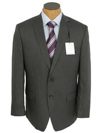 Calvin Klein Steel Mens Charcoal 3 Piece Slim Fit Suit- Size 40R