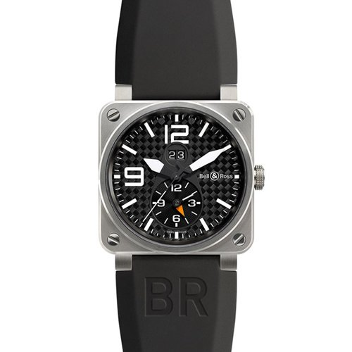 Bell & Ross Men's BR-03-51-GMT TITANIUM Aviation Black GMT Dial Watch Watch