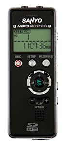 SANYO ICR-FP700D Digital Stereo MP3 Voice Recorder with Expandable SD Card Memory Slot
