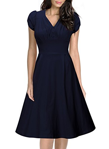 miusol-womens-christmas-vintage-breast-dart-v-ncek-a-line-skirts-big-swing-tea-blue-dress-medium-uk-