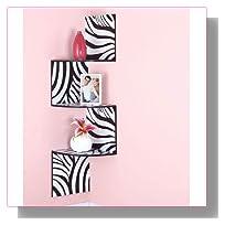 Homeaxcess Zebra Corner Wall Shelf