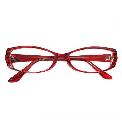 シャープなレッドフレームサングラス 赤ぶち眼鏡