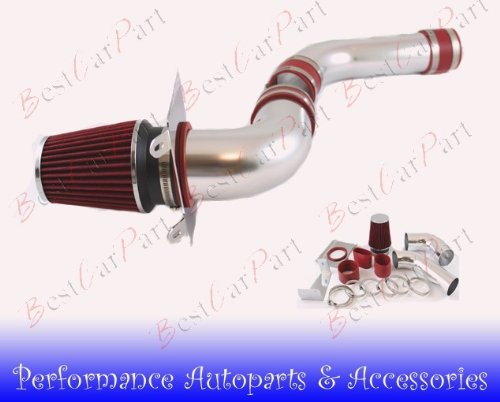 For Toyota Celica GTS 00-05 MT Cold Air Intake System Black with Air Filter Red