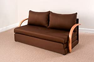 Fold out double foam sofa bed chloe chocolate for Sofa bed amazon uk