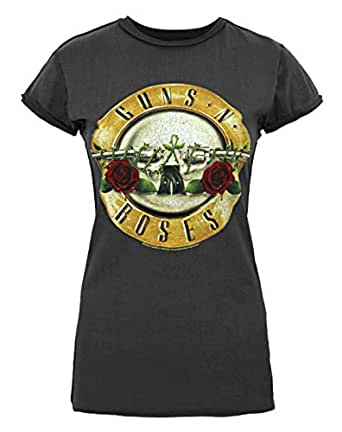 damen amplified clothing guns n roses t
