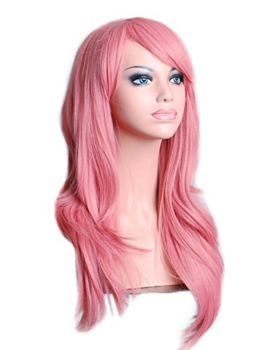 """Cool2Day 28 """" 70Cm Long Big Wavy Hair Heat Resistant Cosplay Wig (Pink)"""