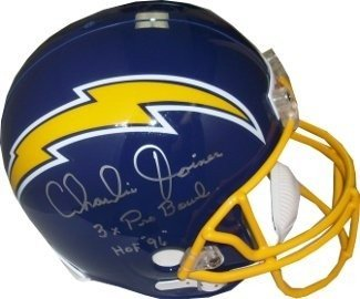 Charlie Joiner Signed San Diego Chargers Throwback Blue Full Size Replica Helmet Hof 96 & 3X Pro Bowls front-593688
