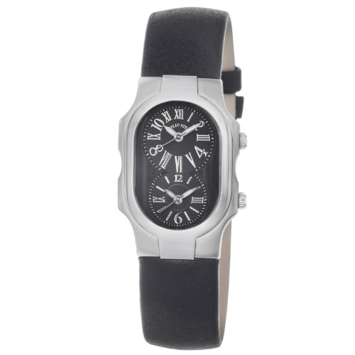 Philip Stein Women's 1-MB-CB Signature Black Leather Strap Watch