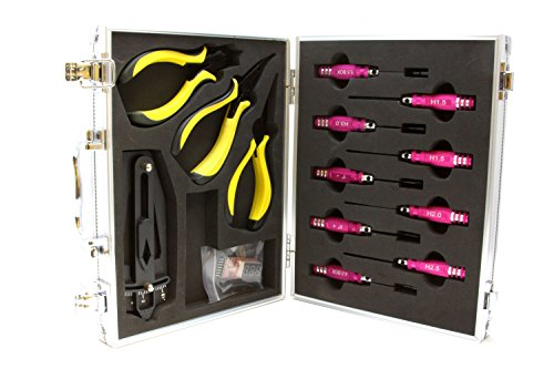 Strongrr-New-14-Pcs-Ulitmate-Professional-Precision-Screwdrivers-Repair-Tool-Kit-for-Hobby-RC-Double-Horse-9053-26-Inches-35-Channel-Outdoor-Metal-Gyro-RC-Helicopter-with-Aluminum-Case
